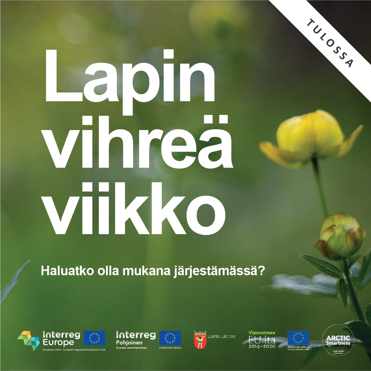 Lapin vihreän viikon oheistapahtumat 14/9/2020 – 02/10/2020