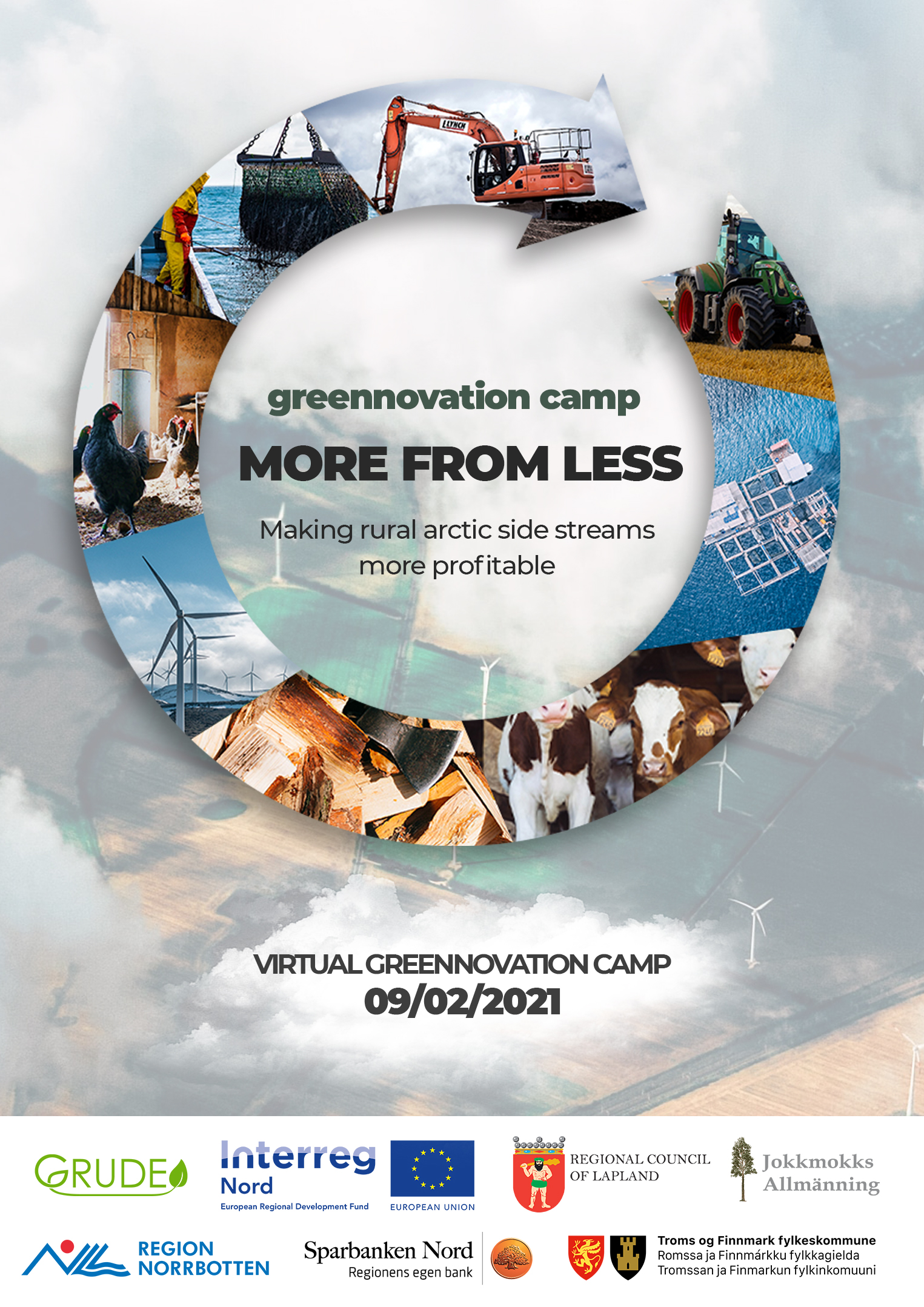Greennovation Camp: More from less – making rural arctic sidestreams more profitable, onlineevent 9e februari.