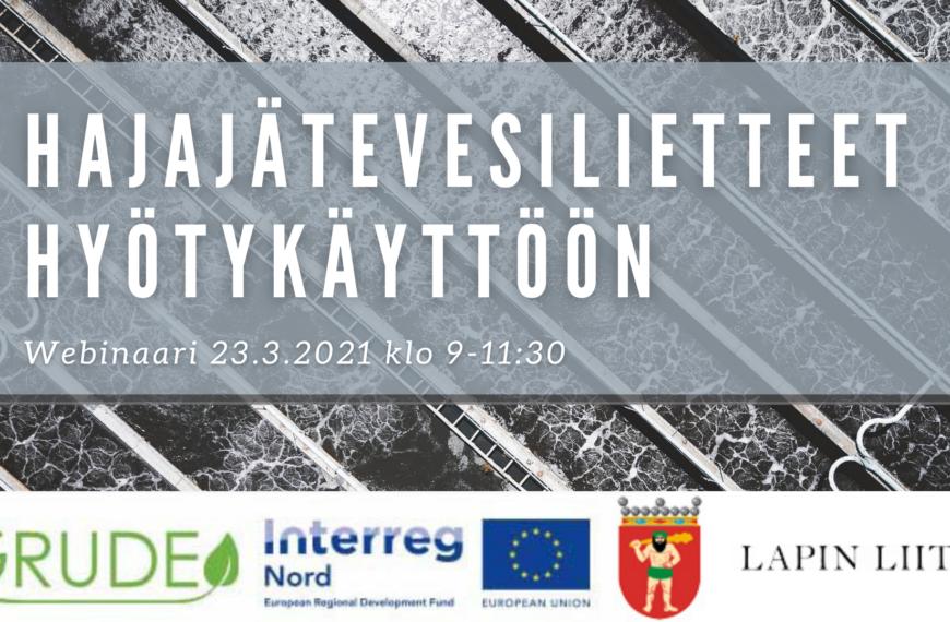Hajajätevesilietteet hyötykäyttöön 23/3/2021