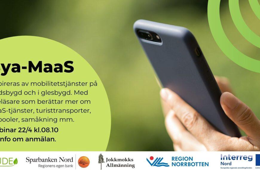 Bya-MaaS – Mobilitetstjänster långt ifrån staden 22/4/2021