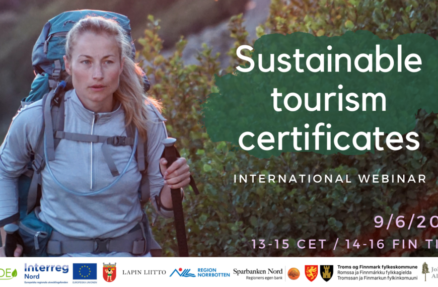 Sustainable Tourism Certificates 9/6/2021