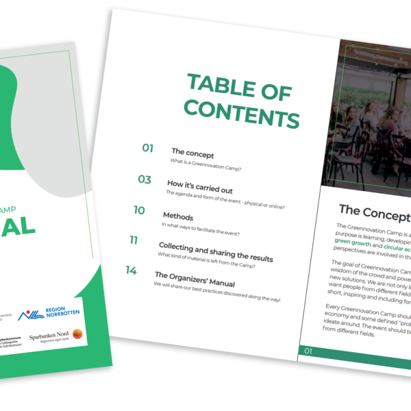 Greennovation Camp Manual is now published