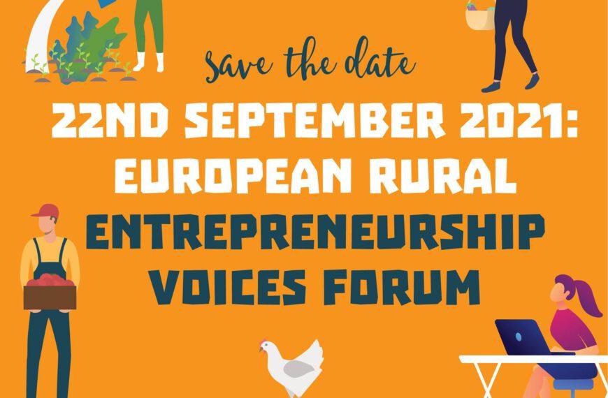 European Rural Entrepreneurship Voices Forum 22/9/2021
